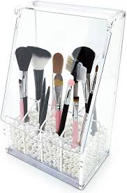 clear acrylic diy makeup brush holder
