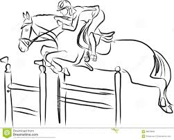 Rider On Horse In Jumping Show Stock Vector Illustration Of Barrier Award 88979839