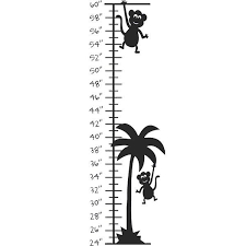 Shop Monkey Palm Tree Growth Chart Vinyl Wall Decal Overstock 6710928