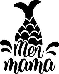 5 Inch Mer Mama Mermaid Tail Decal Window Sticker Car Decor Mom Life Ocean Salt Ebay