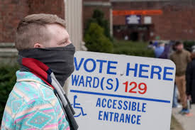 Wisconsin primary voting during ...