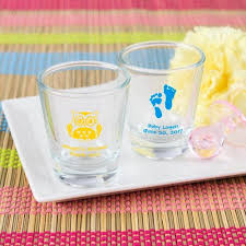 personalized shot glasses baby shower