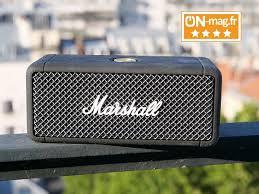 Test Marshall Emberton : le rock tout-terrain à 360° sur une enceinte  Bluetooth nomade