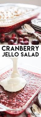 cranberry jello salad with cream cheese