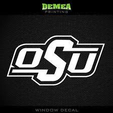 Oklahoma State Cowboys Osu Ncaa White Vinyl Sticker Decal 5
