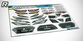 Rc Maker Pre Cut Touring Car Light Grill Decals Red Rc