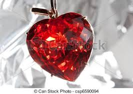 ruby heart shaped precious stone red