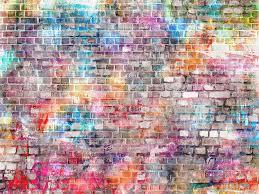 صور فوتوغرافية وردية من الطوب على جدران الجدران خلفيات كشك الصور