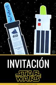 Invitacion Star Wars Gratis Con Moldes Editable Starwars