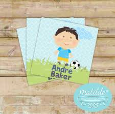 Boys Soccer Hang Tags Or Gift Personalized Calling Cards