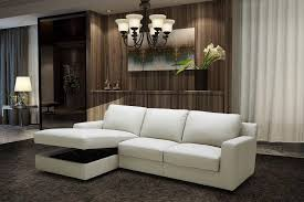 light grey italian leather sectional