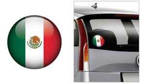 Mexican Flag Decal 4 1 2in Party City