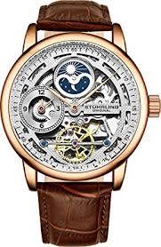 rose gold watch for men skeleton