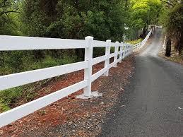 Custom Three Rail Post And Rail Fence Big Country Pvc Fencing