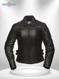 shirt collar leather jacket
