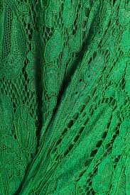 green fluted corded lace dress