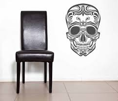 Art Designed Sugar Skull Wall Decal Day Of The Dead Sugar Skull Pattern Wall Stickers Art Mexican Home Special Decor Wm 168 Skull Wall Decals Wall Decalsskull Wall Aliexpress