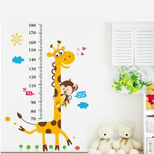 Click To Buy Giraffe Monkey Height Measure Wall Stickers For Kids Rooms Height Chart Rul Wall Stickers Giraffe Nursery Wall Stickers Baby Room Wall Decor