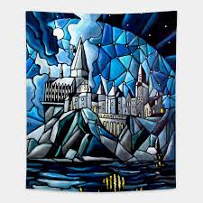 stained glass hogwarts harry potter