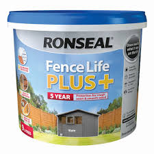 Ronseal Fence Life Plus Slate Matt Fence Shed Wood Treatment 9l Departments Diy At B Q
