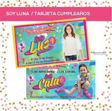 Soy Luna Invitacion Cumple Con Foto Y Logo Nena Digital 150