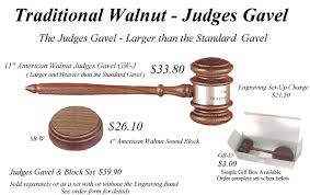 traditional judges gavel page