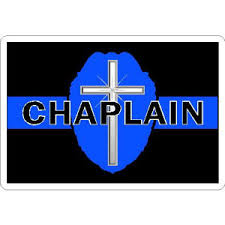 Thin Blue Line Police Chaplain Badge Cross Vinyl Sticker At Sticker Shoppe