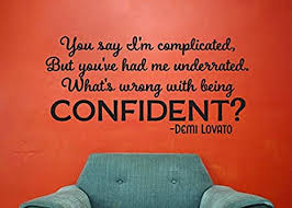 Lucky Girl Decals Vinyl Wall Decor Confident Lyrics Inspired By Demi Lovato 24 9 Inches Wide X 12 Inches High Amazon Com