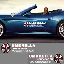 Amazon Com Yspring 1 Pair Umbrella Corporation Car Decals Resident Evil Decorative Auto Body Stickers For Cars Motorcycles Style I White 19 7 In5 9 In Arts Crafts Sewing