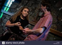 """UNITED STATES - June 20, 2016: Carsen Howard and Brian Tepe during a dress  rehearsal for """"Love, He Called It,"""" by two local playwrights Christian Jost  Stock Photo: 256159772 - Alamy"""