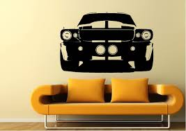 Cars Mustang Front Grill Wall Stickers