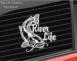 River Fishing Decal Etsy