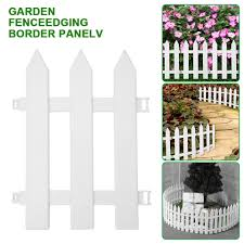 Garden Fence Grass Edge Fence Picket Border Panel Plastic Wall Fence Board Garden Yard Decoration Diy Easy To Assemble Fencing Trellis Gates Aliexpress