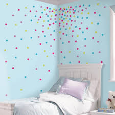 Rainbow Color Dots Stars Wall Sticker For Children Room Kids Home Decor Decals C