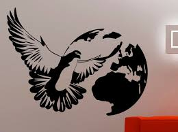 Dove Wall Decal Bird Stickers Wall Mural Home Design Wall Etsy