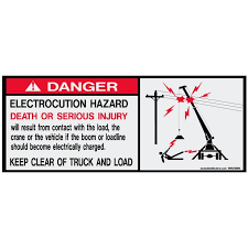 Electrocution Hazard Safety W85886 Vinyl Decals Aaxis Distributors
