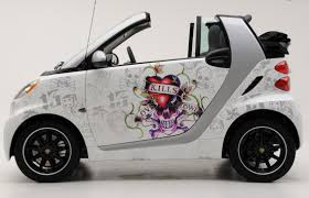 Ed Hardy Branded Smart Cars Smart Car Smart Fortwo Cars Movie