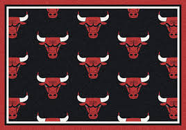 chicago bulls winning team rugs