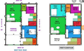 house plan for 30 feet by 40 feet plot