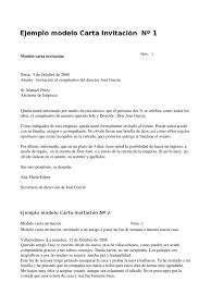 Ejemplo Modelo Carta Invitacion