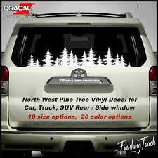 W277 Subaru Tree Forest Decal Graphic Wrap Car Rear Window Decal Van Ebay