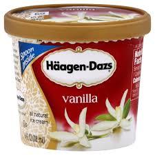 haagen dazs ice cream single serve vanilla