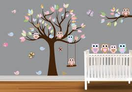 Baby Rom Owl Themed Nursery Baby Room Wall Stickers Nursery Wall Decals Girl