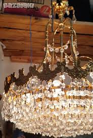 3 vintage fountain crystal chandeliers