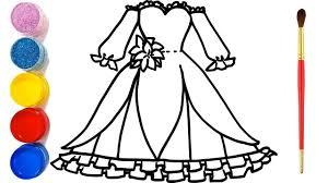 Vẽ Váy Công Chúa Mới Nhất Và Tô Màu cho bé | Bé Tập vẽ