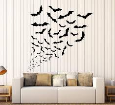 Vinyl Wall Decal Bats Halloween Horror Art Decor Stickers Unique Gift Wallstickers4you