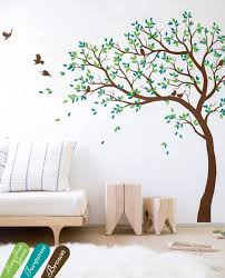 Amazon Com Large Tree Wall Decal Nursery Tree Wall Sticker With Birds Custom Color Choices 032 Handmade