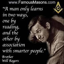 Brother Will Rogers | Famous freemasons, Freemason quotes, Freemason