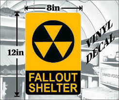 Fallout Shelter Vinyl Decal Window Sticker Free Shipping 8x12 Made In Usa Ebay