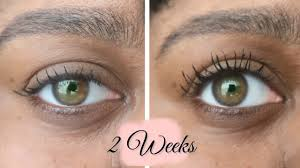 2 weeks castor oil on my lashes it